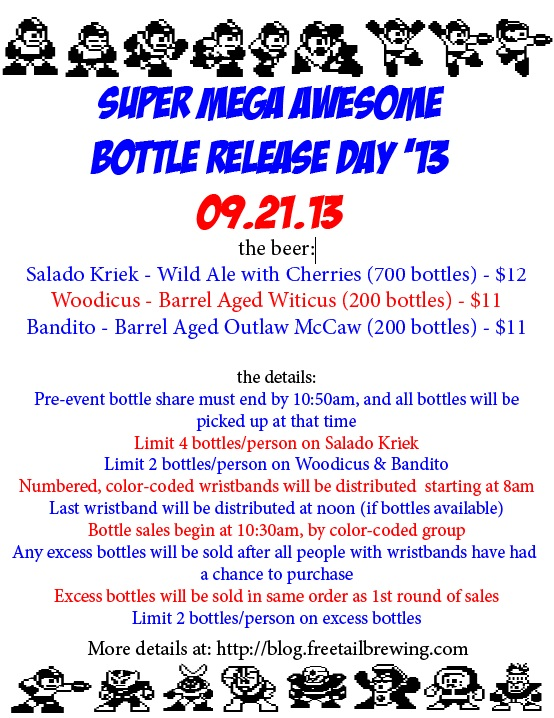 Freetail Super Mega Awesome Bottle Release Day 2013
