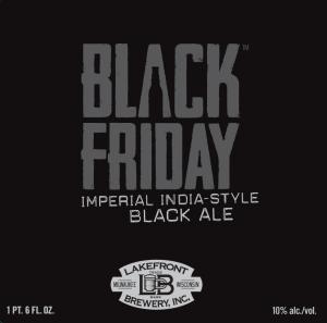 Lakefront Black Friday beer