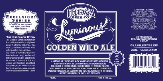 Ithaca Luminous Golden Wild Ale