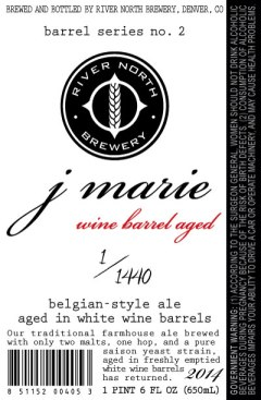 River North Wine Barrel-Aged J Marie