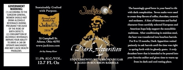 Jackie Os Bourbon Barrel Dark Apparition