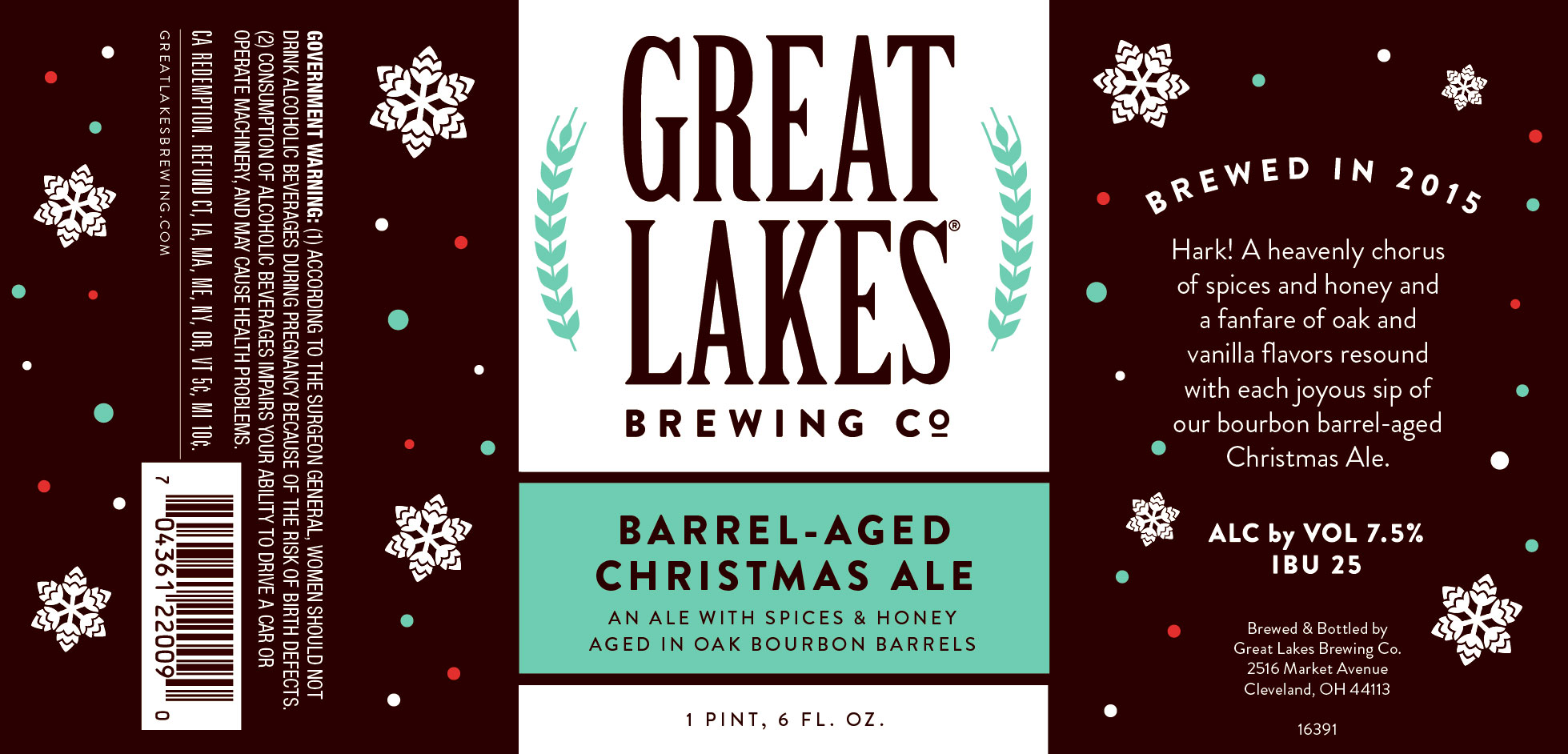 Cleveland Christmas Bourbon.Great Lakes Barrel Aged Christmas Ale Bottles Coming This